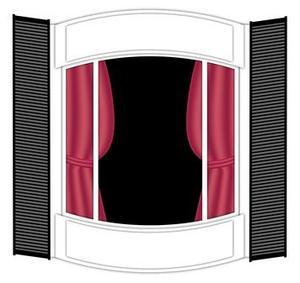 comment accrocher des rideaux dans une fen tre bay. Black Bedroom Furniture Sets. Home Design Ideas