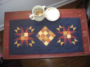 Instructions pour un chemin de table matelassée