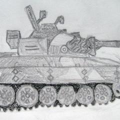 Comment dessiner un char militaire