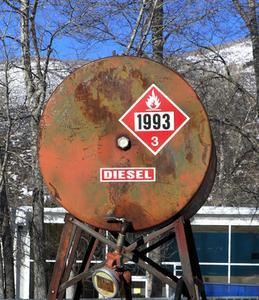 Quel est le point éclair du carburant diesel?
