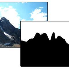 Comment faire une montagne Silhouette dans Photoshop