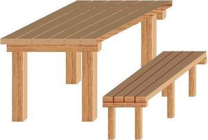 Comment construire une table et banc en bois