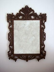 Comment accrocher un miroir métallique lourde-Frame