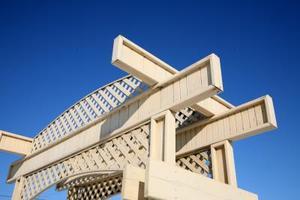 Comment construire une arche en bois Trellis