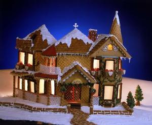 Décorations pour faire une maison ressembler à une maison de pain d'épice