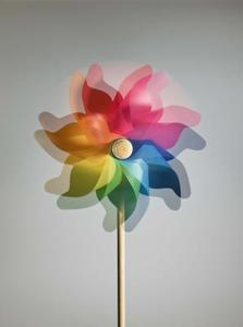 Twirly artisanat de toile en plastique whirly