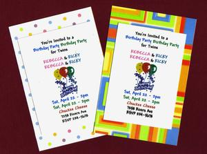 Comment faire des invitations anniversaire pour Twins