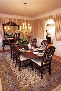 Quel type de tapis est bon sous une table de salle à manger?