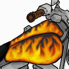 Comment peindre flammes sur un réservoir d'essence de moto