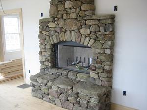 Comment construire une chemin e en pierre rustique - Comment construire une cheminee en pierre ...