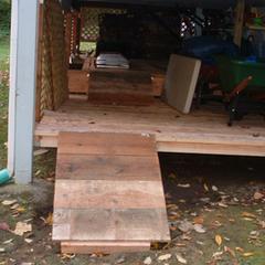 Comment construire une rampe pour un cabanon extérieur