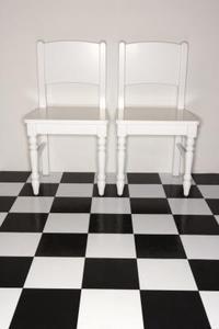 Comment créer damier étages peints