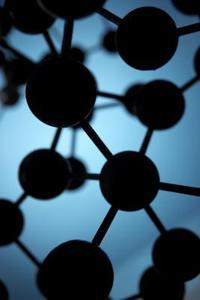 Mouvement de molécules dans liquide-solide et gaz ...